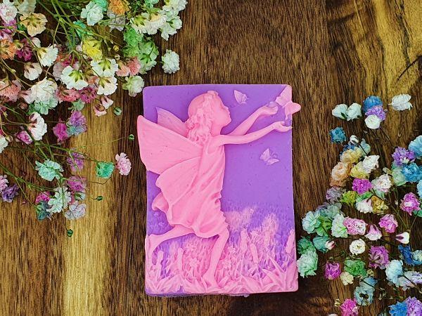Flower Fairies, Sandalwood, Rose Geranium and Patchouli Glycerin Soap