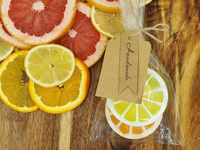 Orange and Lemon slice  Glycerin soaps