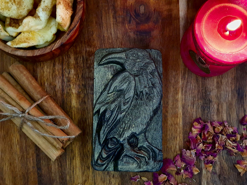 The Raven Glycerin soap, with activated charcoal