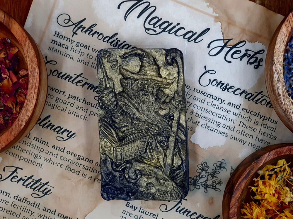 The Wizard Glycerin Soap with activated charcoal