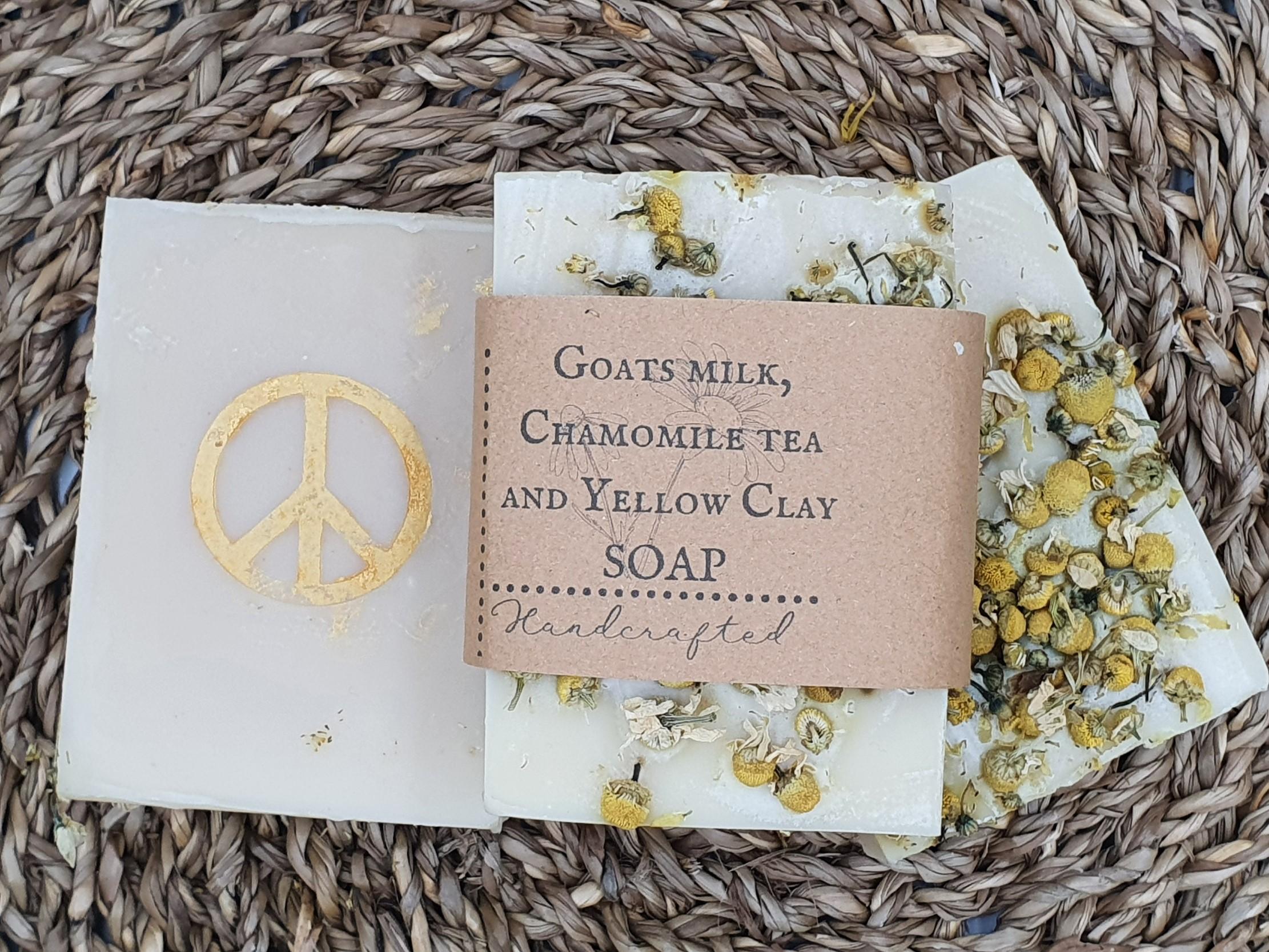 Goats milk,Chamomile tea and Yellow clay soap