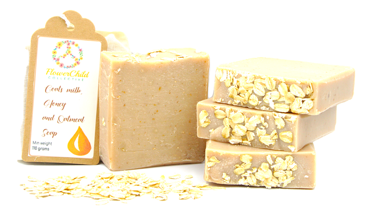 Goats milk, Honey and Oatmeal Soap
